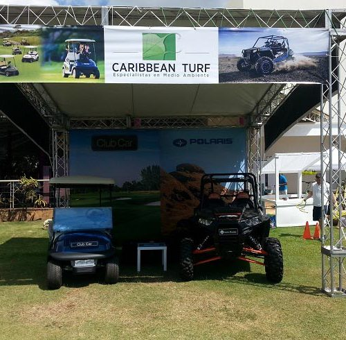 Stand Exterior Caribbean Turf